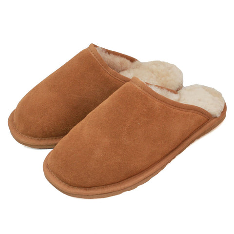 ECM001 Unisex Sheepskin Lined Slipper Mule