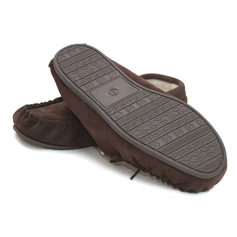 GSM1/S Unisex Sheepskin Lined Moccasin Hard Sole