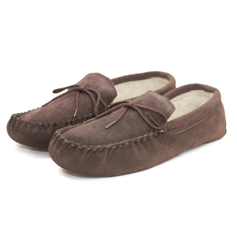 Unisex Wool Lined Moccasin