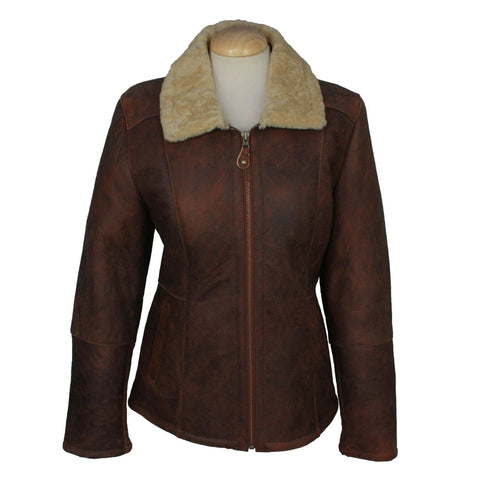 Hillary Ladies Straight Zip Aviator Finish Jacket