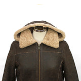 Ladies Hooded Sheepskin Jacket