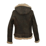 Jessie Ladies Hooded Sheepskin Jacket