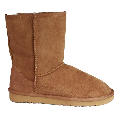 Ladies Plain Sheepskin Boot