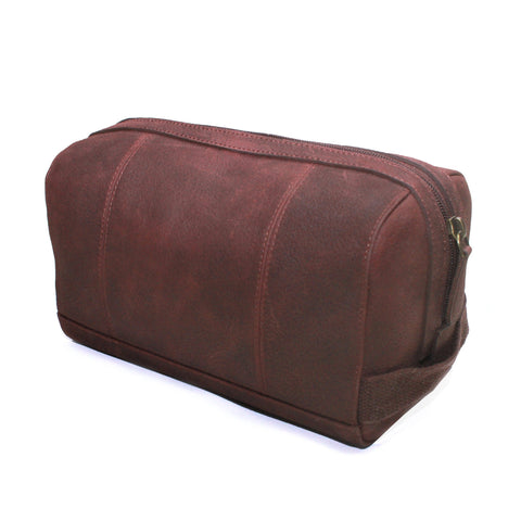 Jamie Leather Washbag