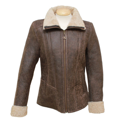 Krissy Ladies Aviator Zip Jacket