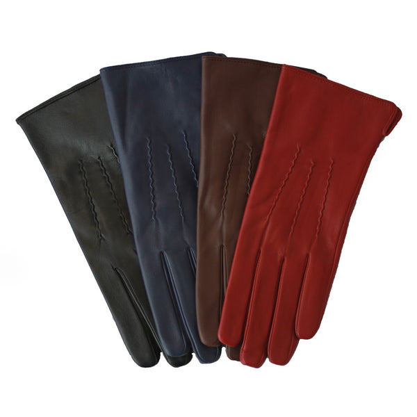 Leather 3 Point Stitch Glove