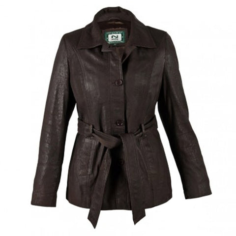Ladies Classic Leather Coat