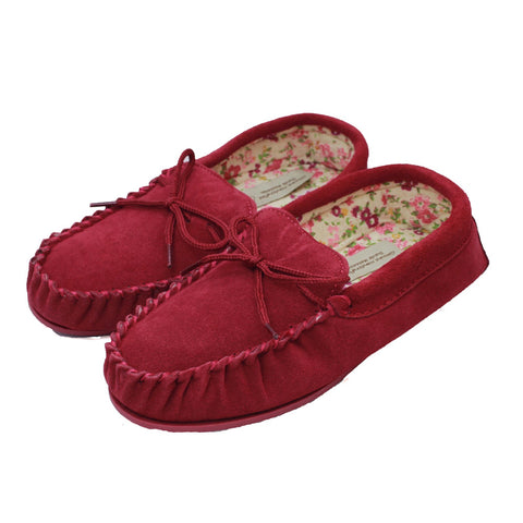 Ladies Fabric Lined Moccasins