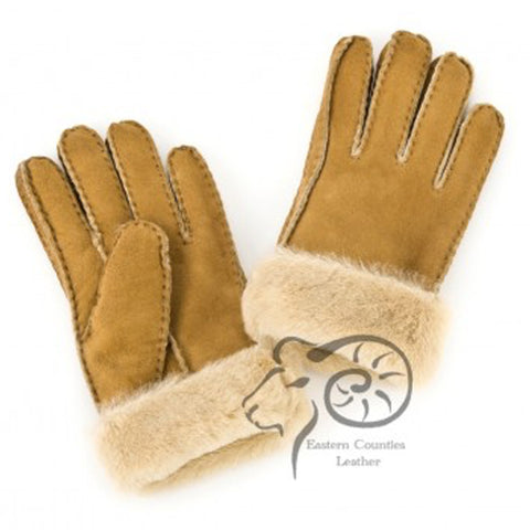 Ladies Sheepskin Glove With Cuff