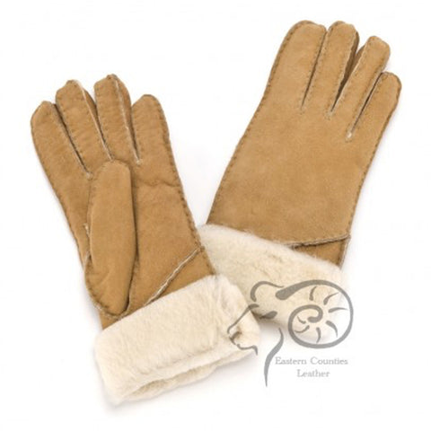 Ladies Sheepskin Long Cuff Glove