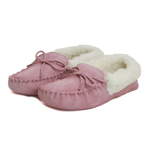 Ladies Wool Lined Moccasin