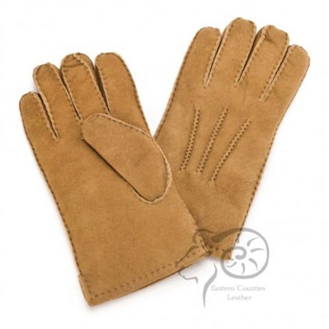 MSG/SP Men's Sheepskin Glove with 3 Point Stitch Detail (Mixed)