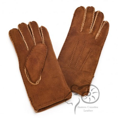 Men's Sheepskin Glove with 3 Point Stitch Detail (Mixed)