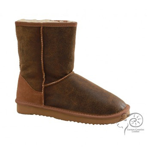 Men's Sheepskin Boots With Aviator Finish