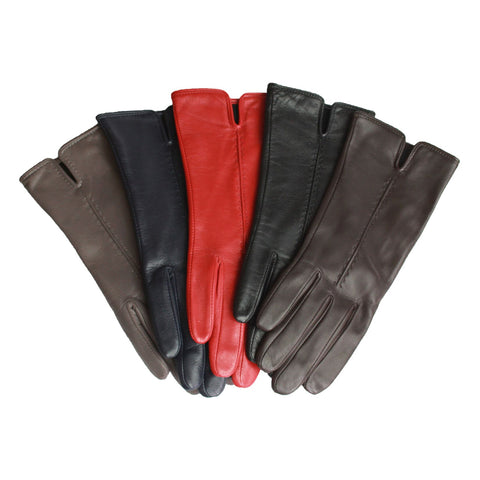 Tess Leather Glove With Single Point Stitch Detail