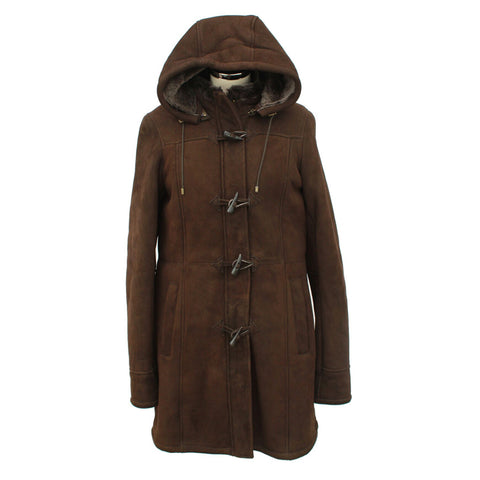 Vicki Ladies Sheepskin Duffle Coat