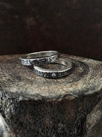 Round Hammered Stacking Rings