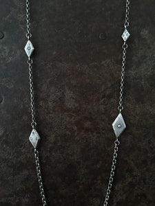 Diamond on Diamond Necklace Luxe