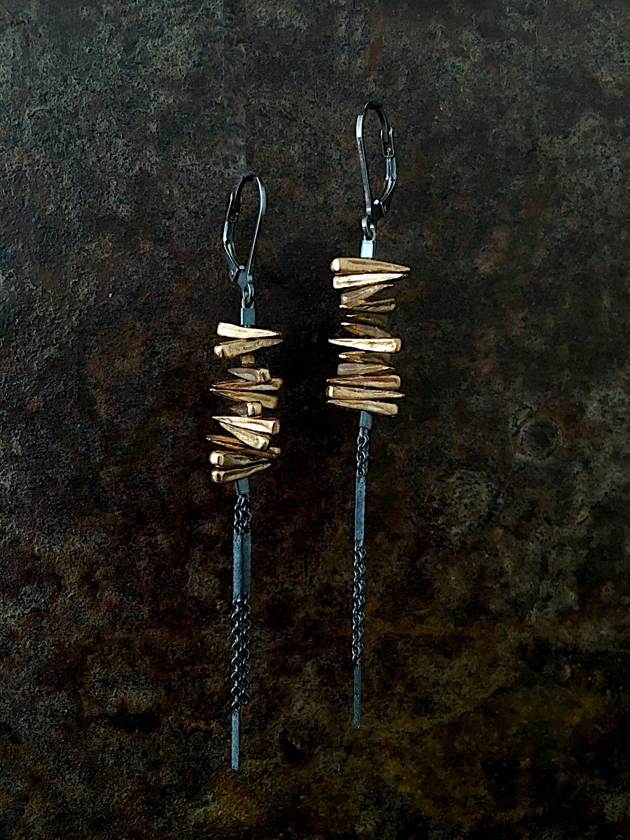 Spike Earrings bronze