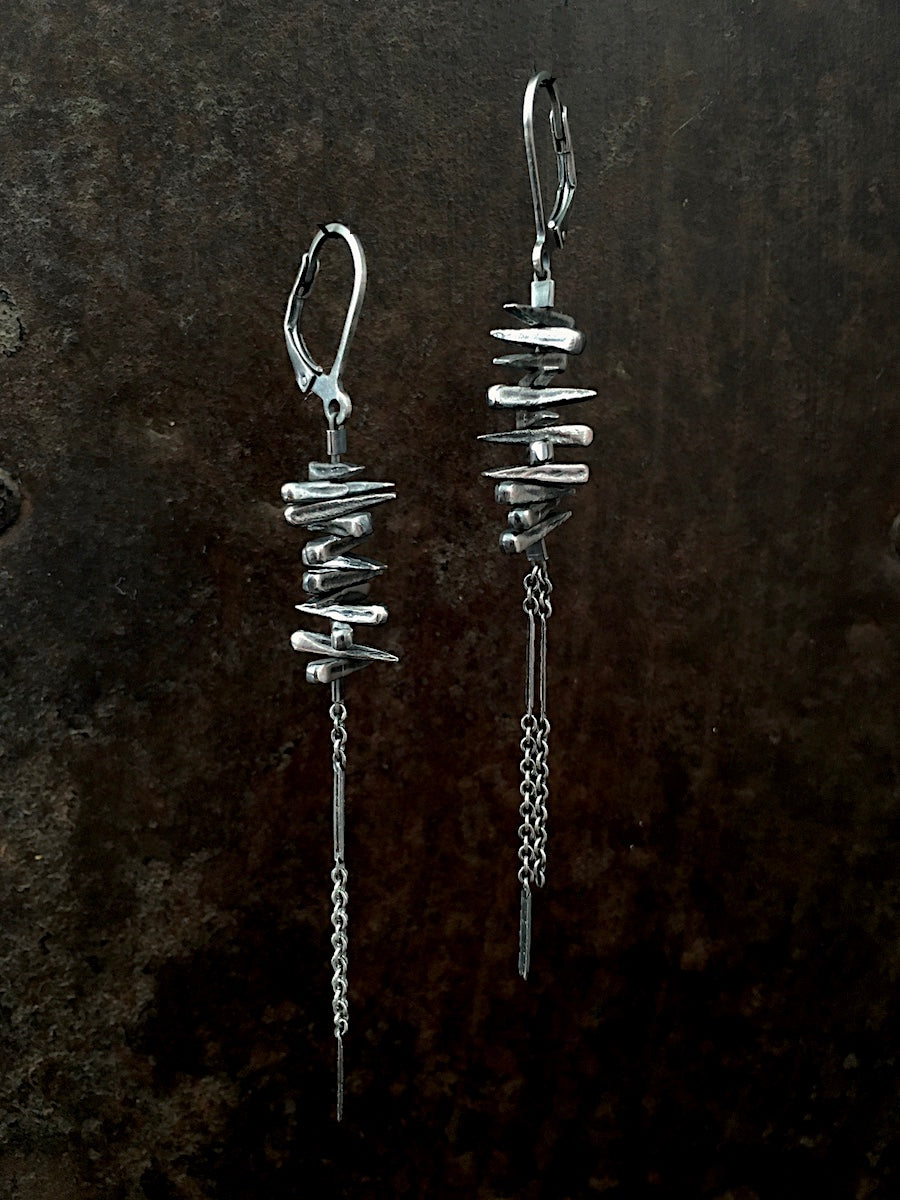 Spike Earrings silver