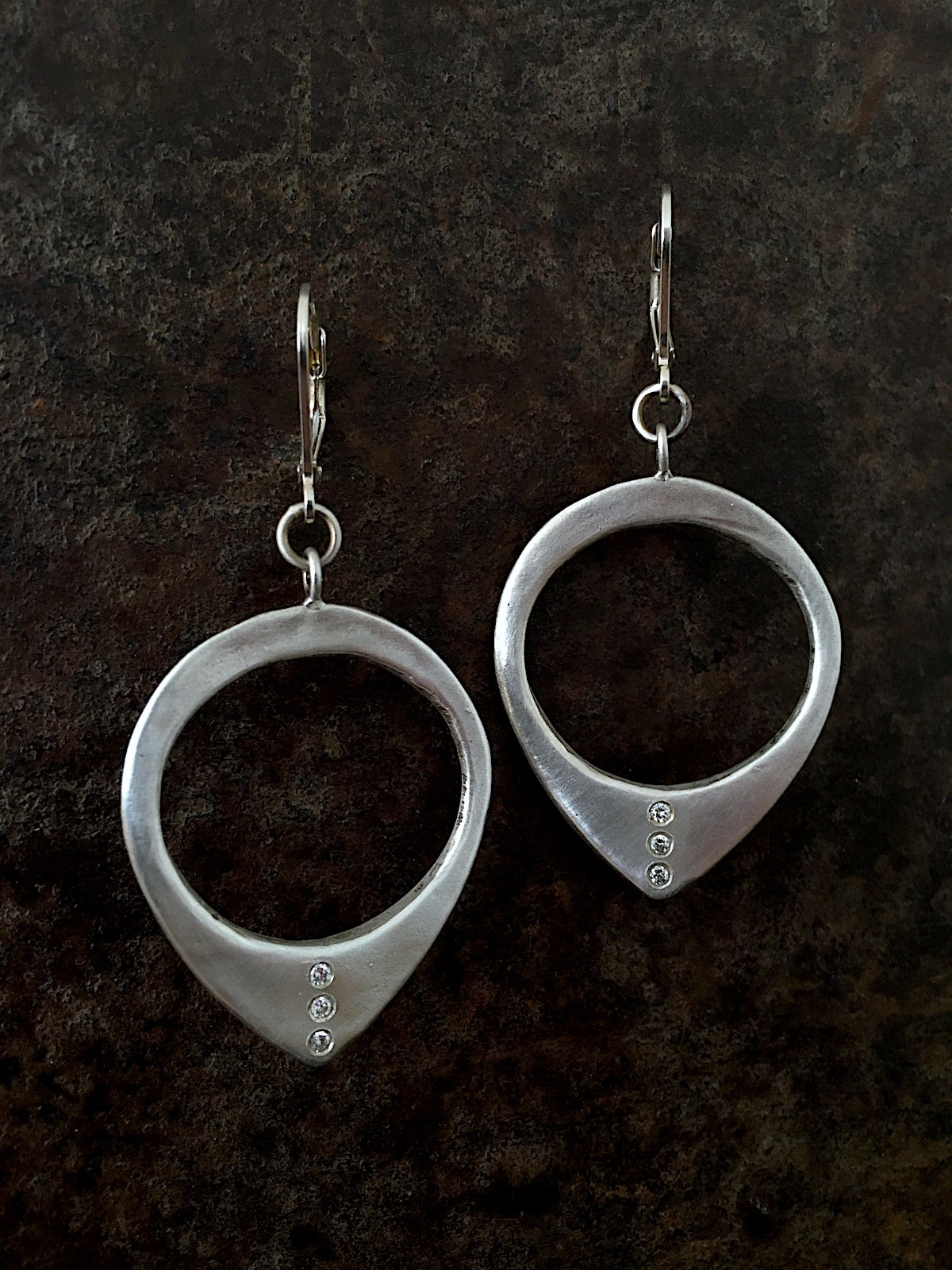 Tuareg Diamond Hoops