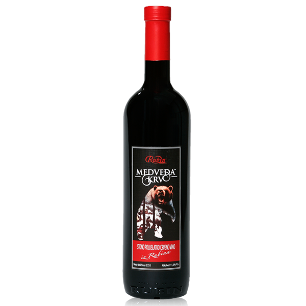 RUBIN Medveda Krv Semi Dry Table Wine 6/750ml