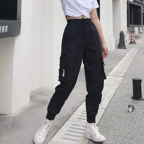 Vista Karina black 2 / S Tapered Cargo Pants