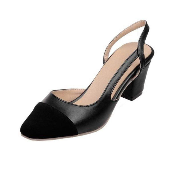 Vista Karina black / 4 Tan and Black slingback heels Mixed Colors Women Sandals