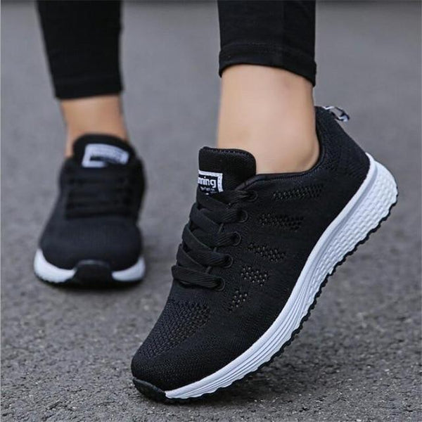 Vista Karina Black Mesh / 4 Mesh & Hollow Running Sneakers