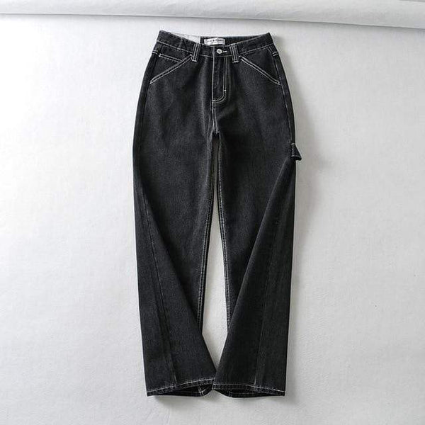 Vista Karina Black / S Zoey loose wide leg baggy jeans