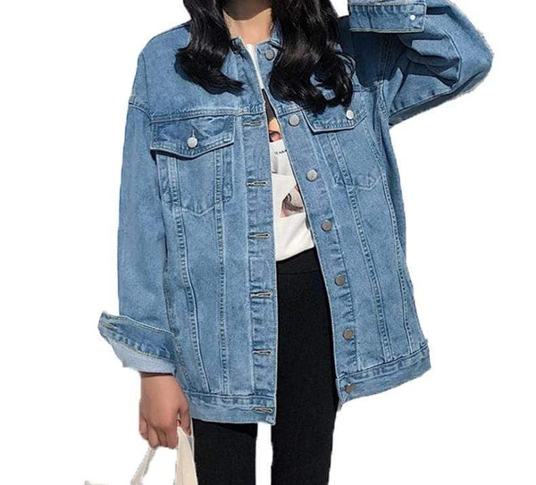 Vista Karina blue / S Blue Fashionable Women Denim Jacket