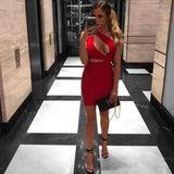 Vista Karina Hollow Out Nightclub Dress