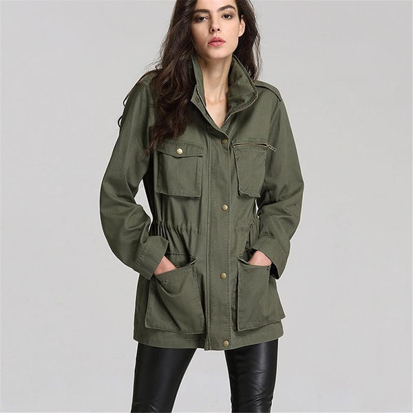 Vista Karina Military Army Green Jacket Coat