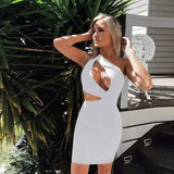 Vista Karina White / XL Hollow Out Nightclub Dress