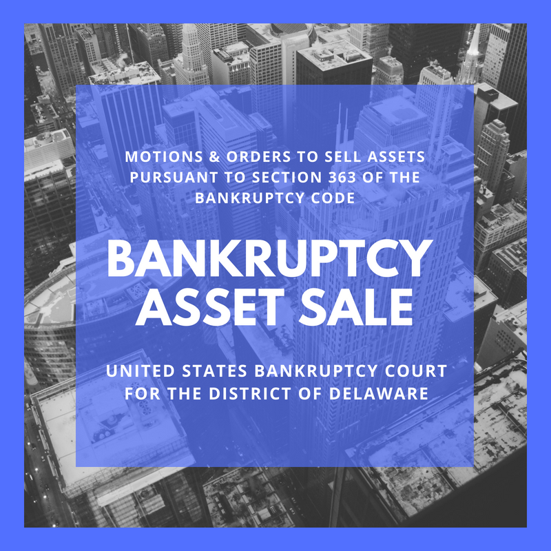 Asset Sale Motion Filed in Bankruptcy Case: 18-11333- Sancilio Pharmaceuticals Company, Inc. (United States Bankruptcy Court for the District of Delaware)