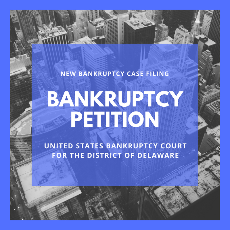 Bankruptcy Petition - 18-11700 Nacelle Manufacturing 1 LLC (United States Bankruptcy Court for the District of Delaware)