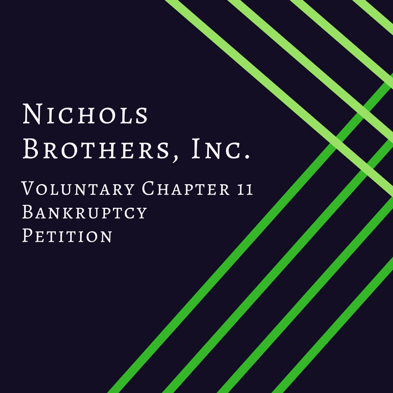Voluntary Chapter 11 Bankruptcy Petition - Nichols Brothers, Inc.