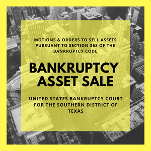 Asset Sale Motion Filed in Bankruptcy Case: 18-32239 RCR Woodway Investments, Inc. (United States Bankruptcy Court for the Southern District of Texas)