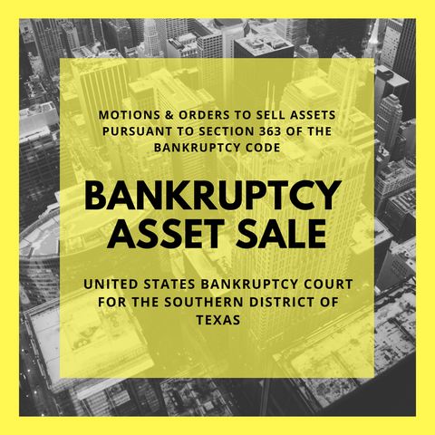 Asset Sale Motion Filed in Bankruptcy Case: 12-20645 Ballenger Construction Company (United States Bankruptcy Court for the Southern District of Texas)
