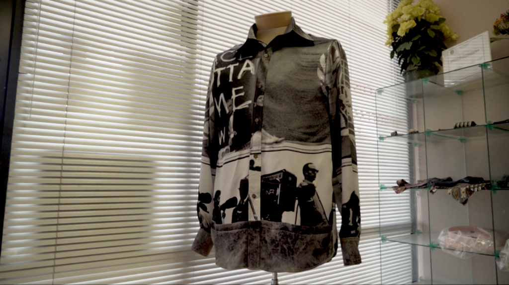 """Constant Elevation"" Silk Long Sleeve Shirt"
