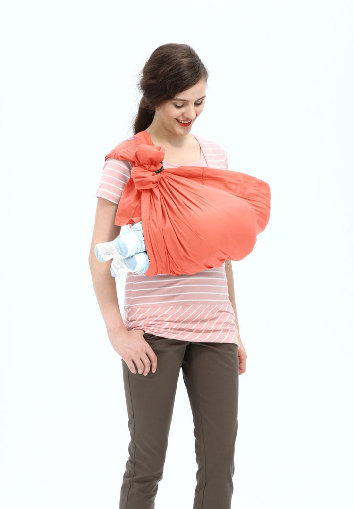 Mamaway Washed Out Baby Ring Sling for Infants and Newborns