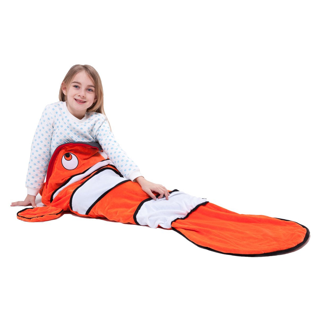 los angeles f9c92 a9c24 Echolife Clown Fish Tail Blanket Soft Fleece Children ...