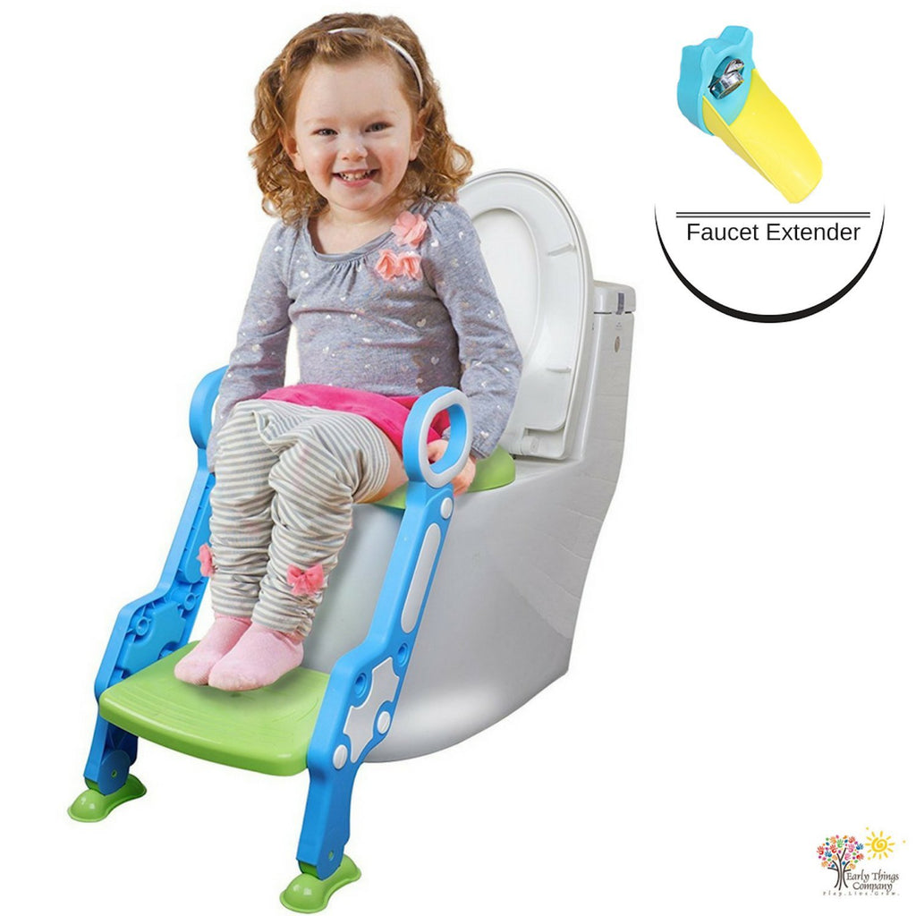 Surprising Early Things Company Potty Training Seat With Ladder Step Creativecarmelina Interior Chair Design Creativecarmelinacom