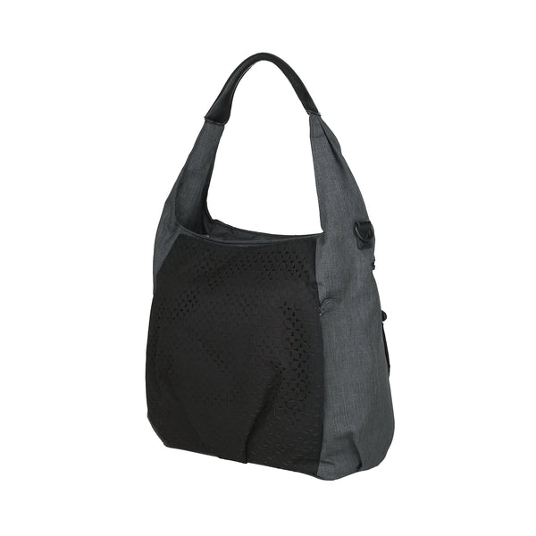 200984e8a7f7 Lassig Casual Hobo Style Diaper Shoulder Bag Handbag Tote-Bag includes  Matching Insulated Bottle Holder, wipeable Changing Mat, Stroller Hooks,  Black