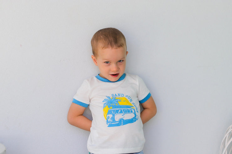 "Organic Pima Cotton ""Sun, Surf & Sand"" Mini Tee"