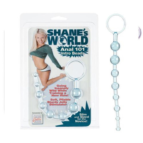 Shanes World Anal 101 Intro Beads Blue