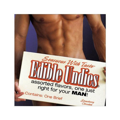 Mens Edible Undies - Strawberry/Chocolate