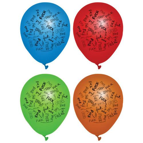 Dirty F-Bomb Balloons - Asst. Colors Pack of 8