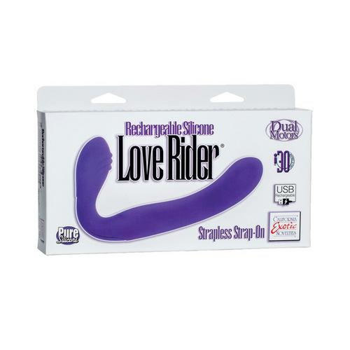 Love Rider Rechargeable Strapless Strap On - Purple