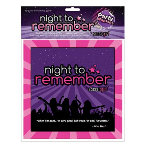 "Night to Remember Standard 6.5"" Napkins - Pack of 10 by sassigirl"